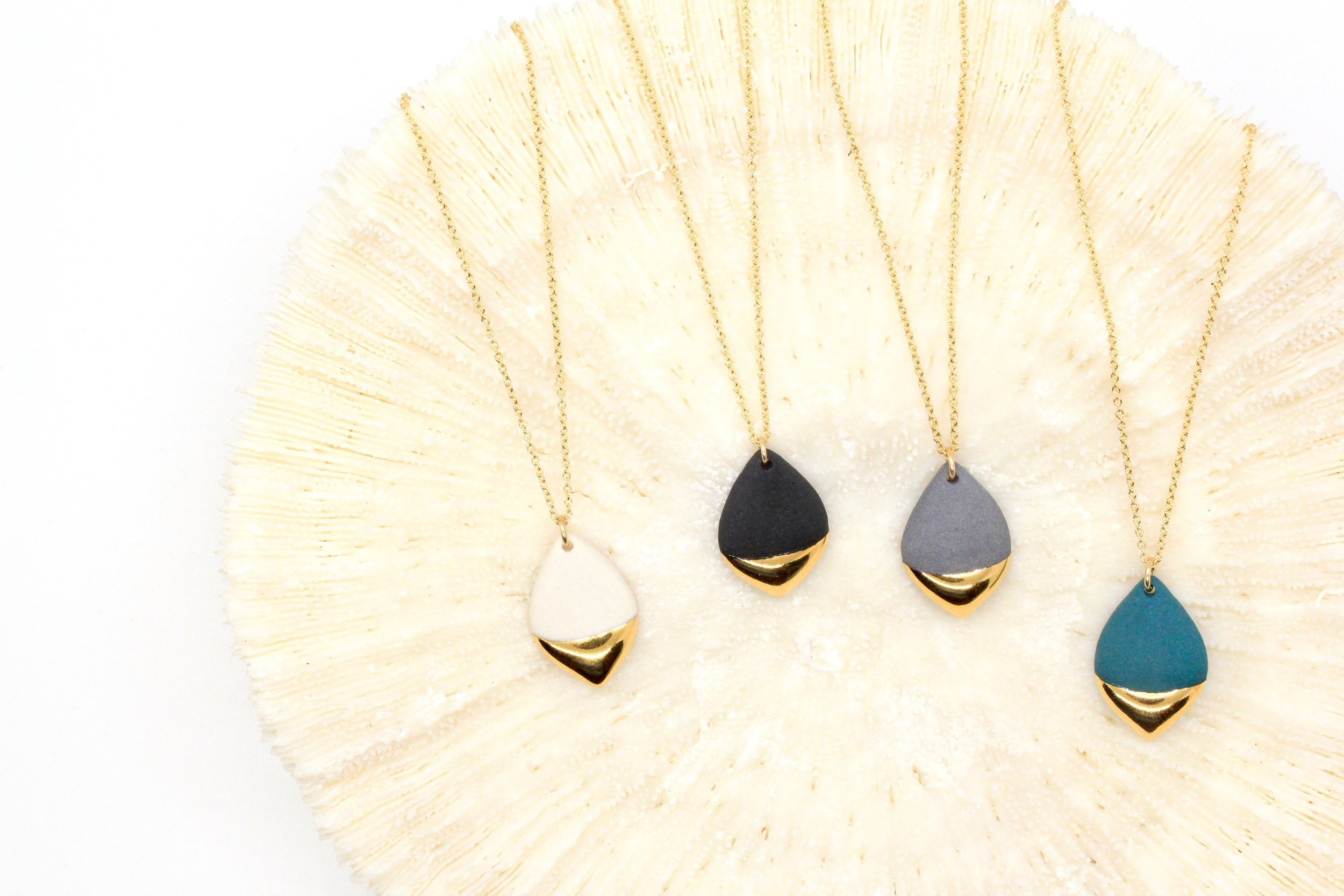 Gold Dipped Marquise Necklace