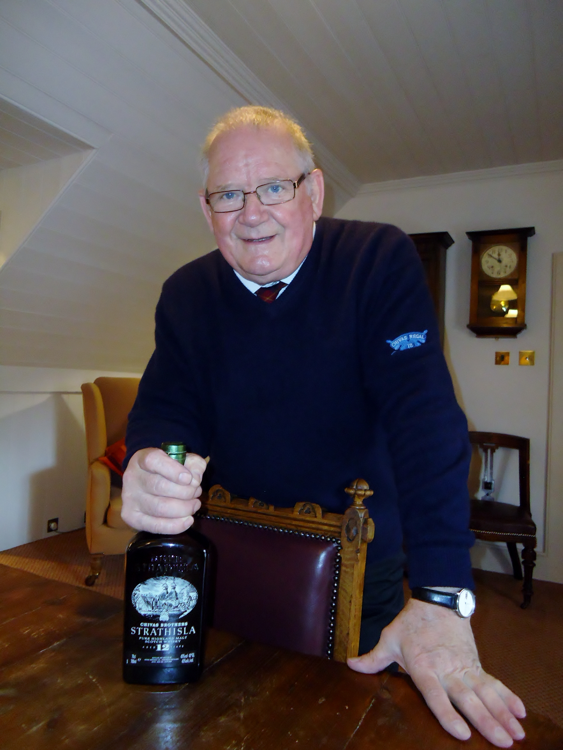The legendary Tommy at the Strathisla Distillery in Scotland.