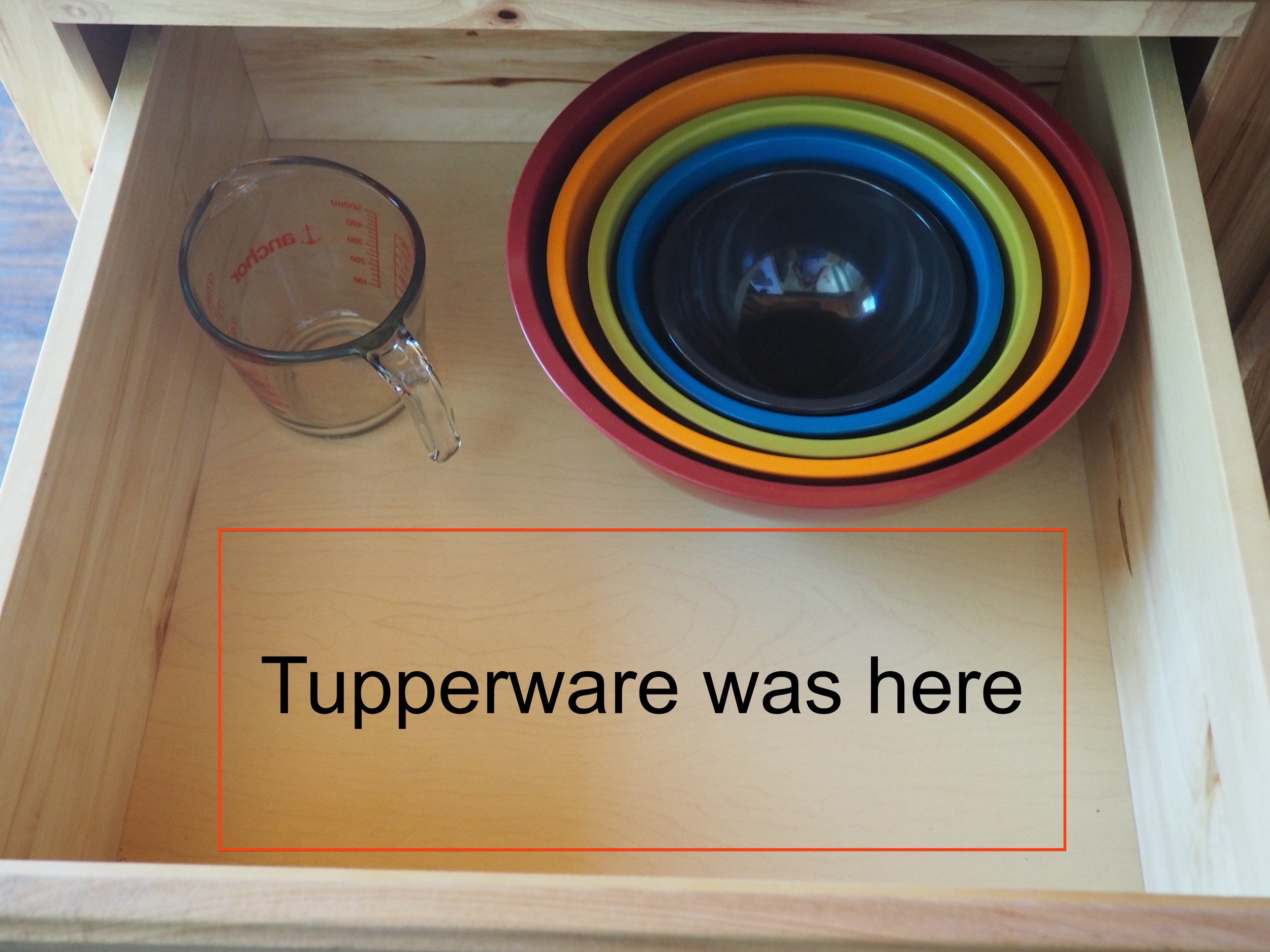 Some of our tupperware went missing.