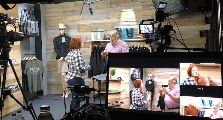 Filming a scene for the Customer Service Foundations course.