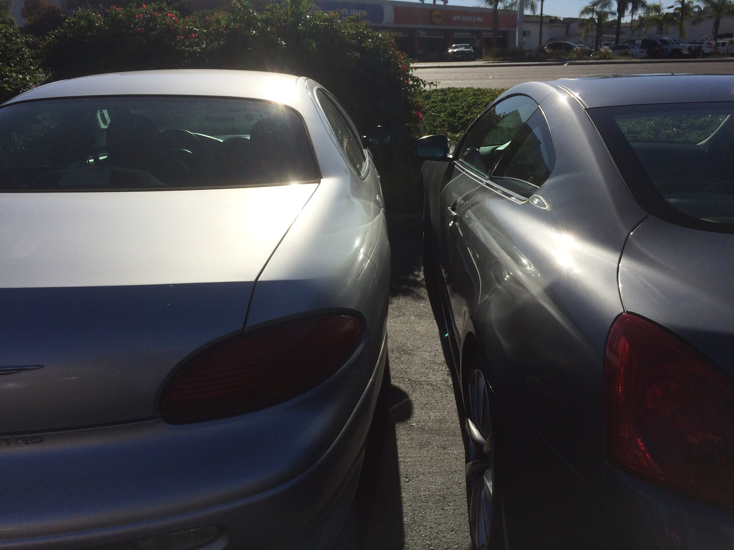 A coffee shop employee parked so far over the line that she blocked my car door.