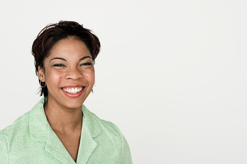 Smiling, friendly employee.