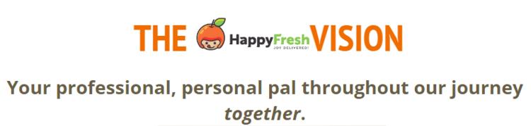 The HappyFresh customer service vision.