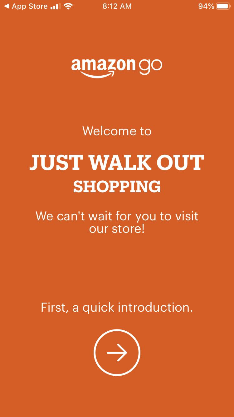 Screenshot of Amazon Go tutorial.