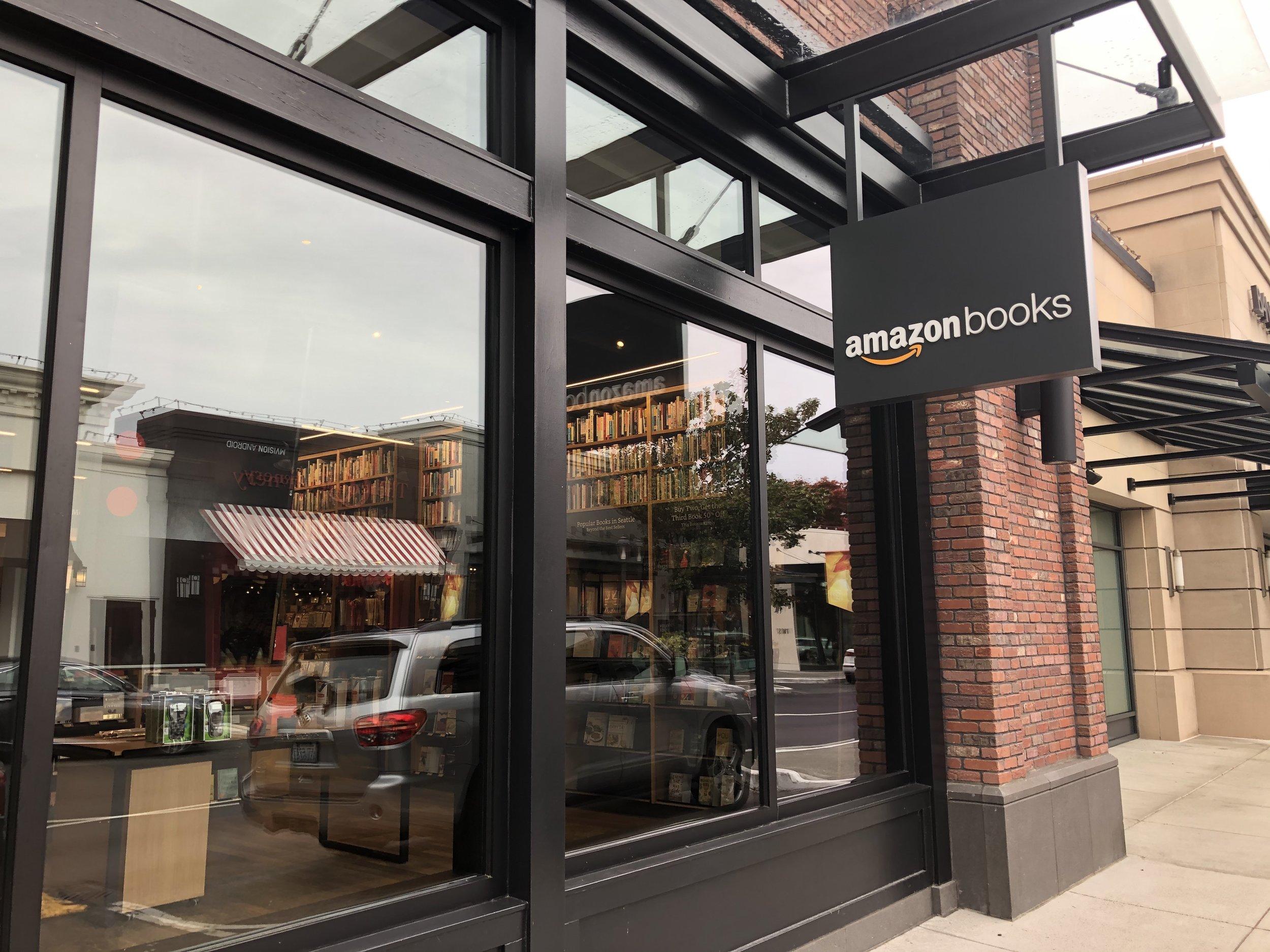 The original Amazon Books store in Seattle.