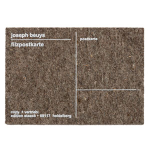 Joseph Beuys Felt Postcard / 225 USD