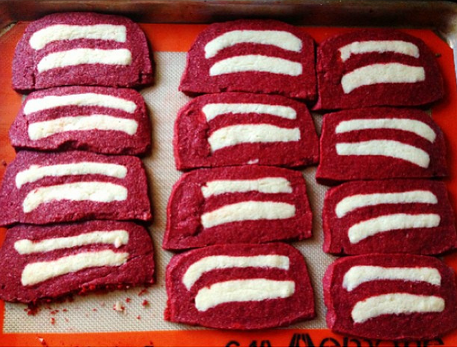 red velvet gluten-free equality cookies!