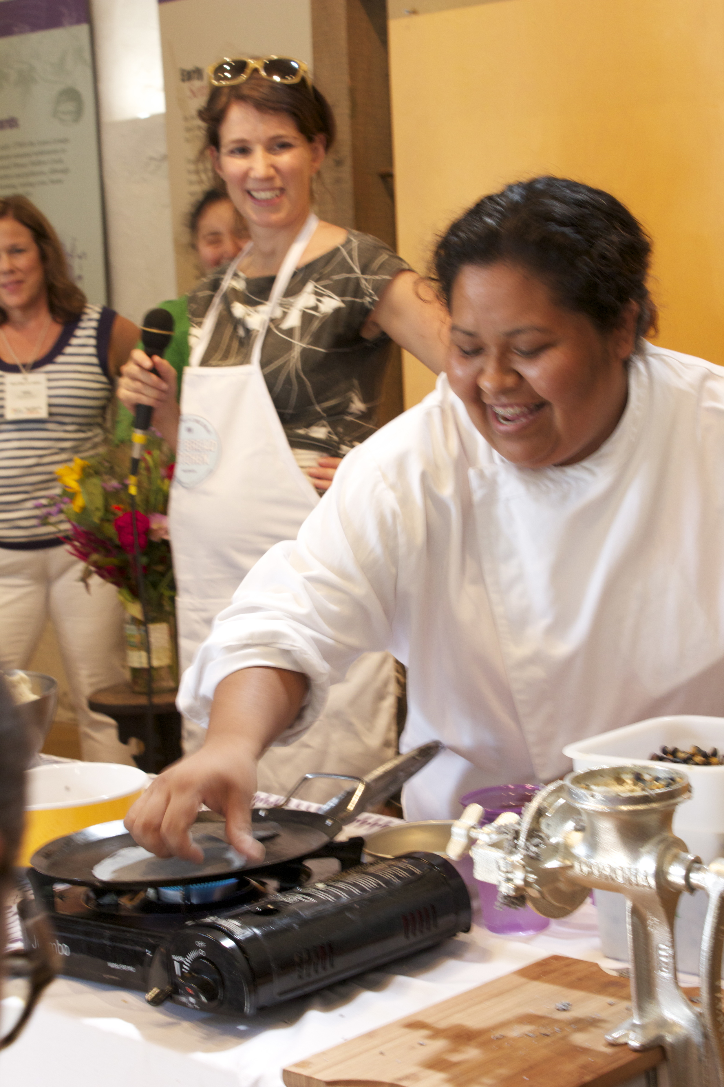 the ladies of  Hot Bread Kitchen  demonstrate the art & science of homemade tortillas!