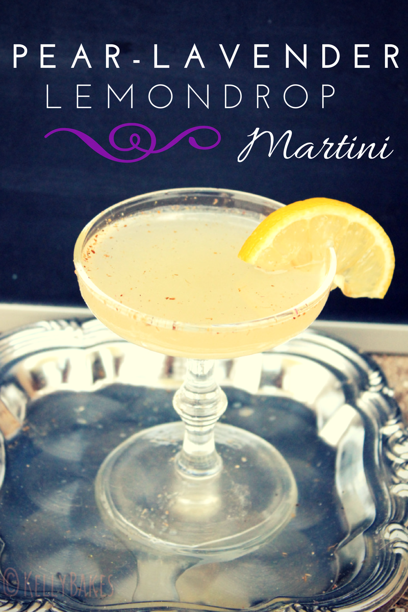 pear lavender lemon drop martini