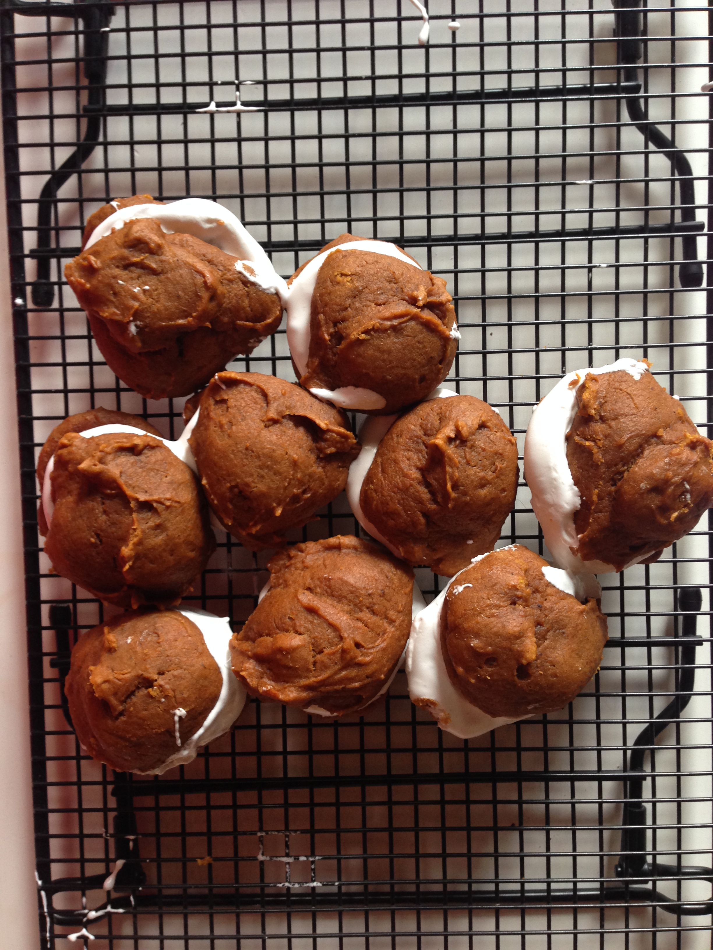 Pumpkin Whoopie Pies with Bourbon Marshmallow Filling