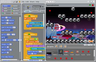 Scratch video game UI