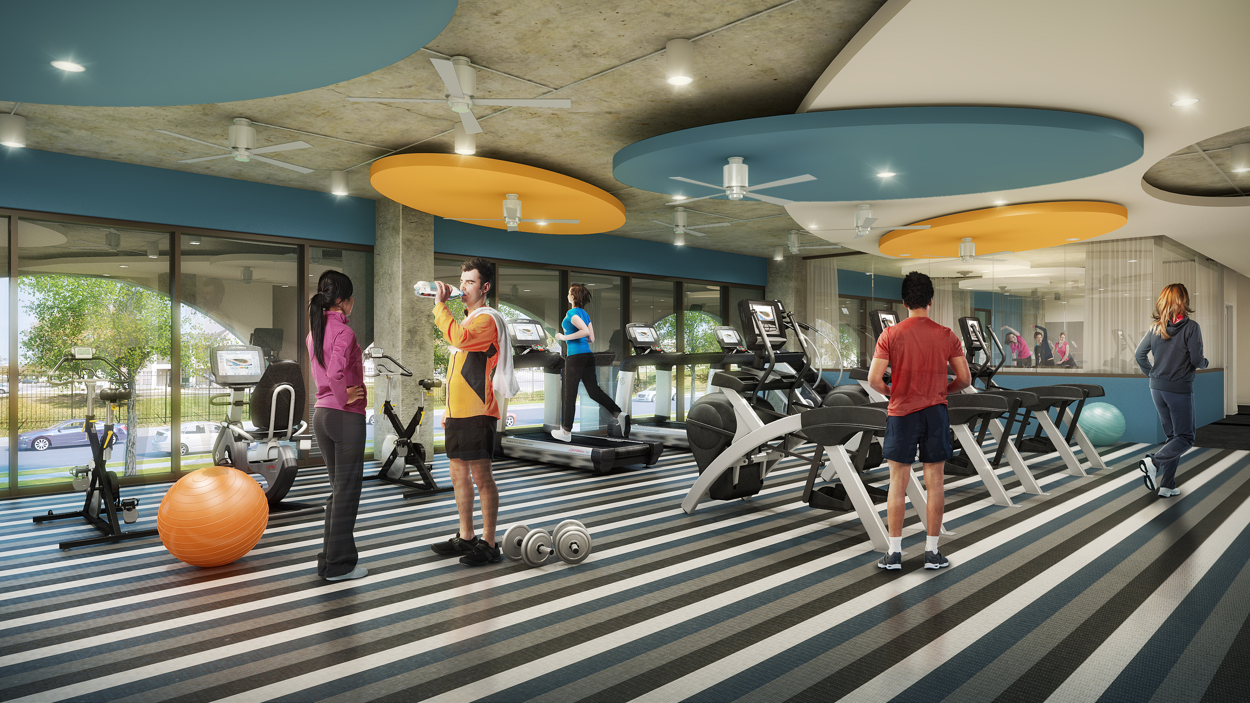 FITNESS CENTER  rendering by cagleart.com