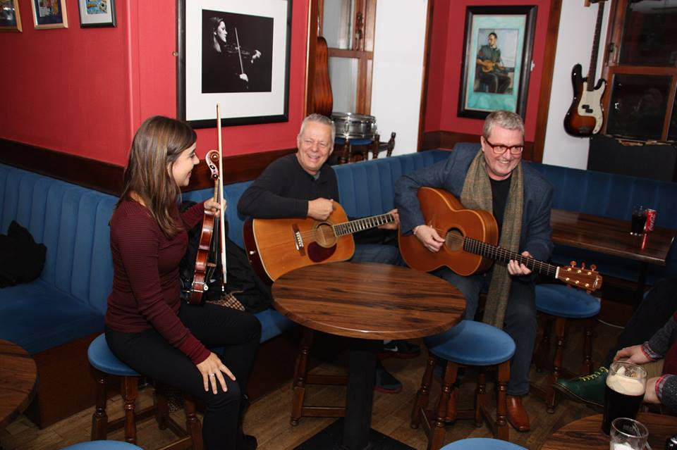 Jamming at The Lounge in Shetland, Scotland with Tommy Emmanuel CGP and Martin Taylor MBE.