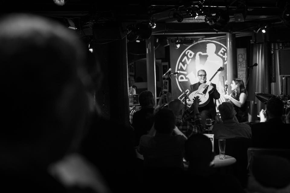Performing with Martin Taylor at Pizza Express in London. 2017. Photo by Adam Bulley.