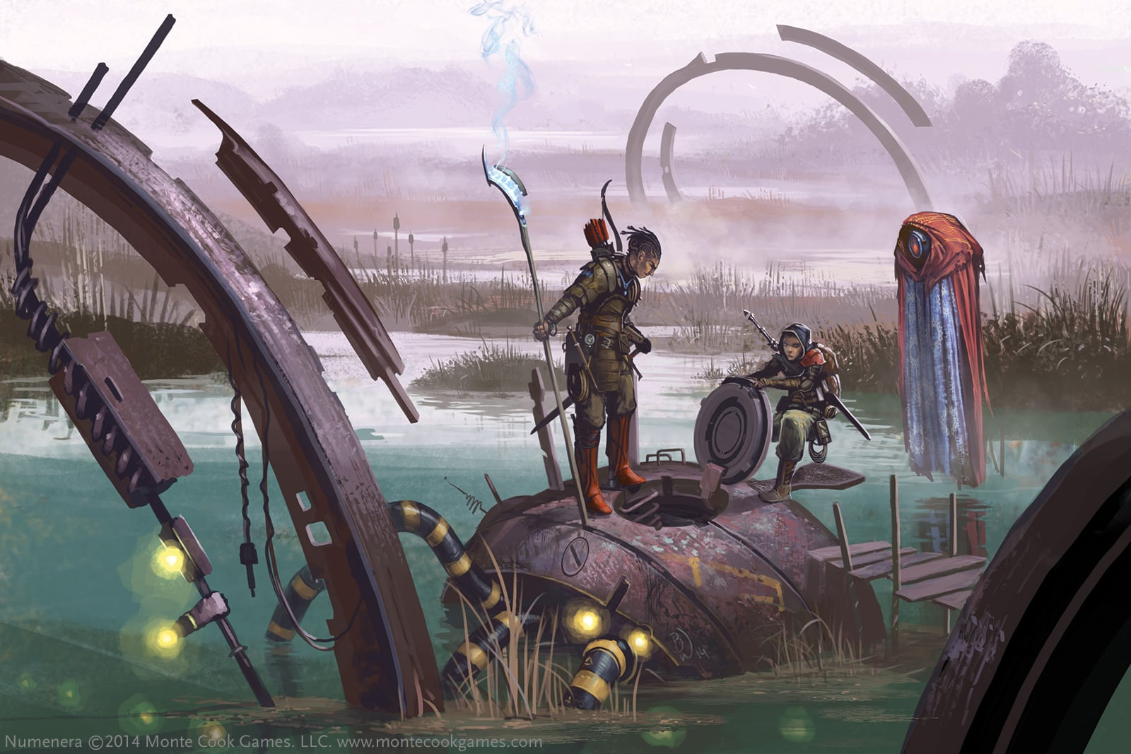 EXPLORING THE MYSTERIES OF THE ANCIENT WORLDS. ART BY BEN WOOTTEN.