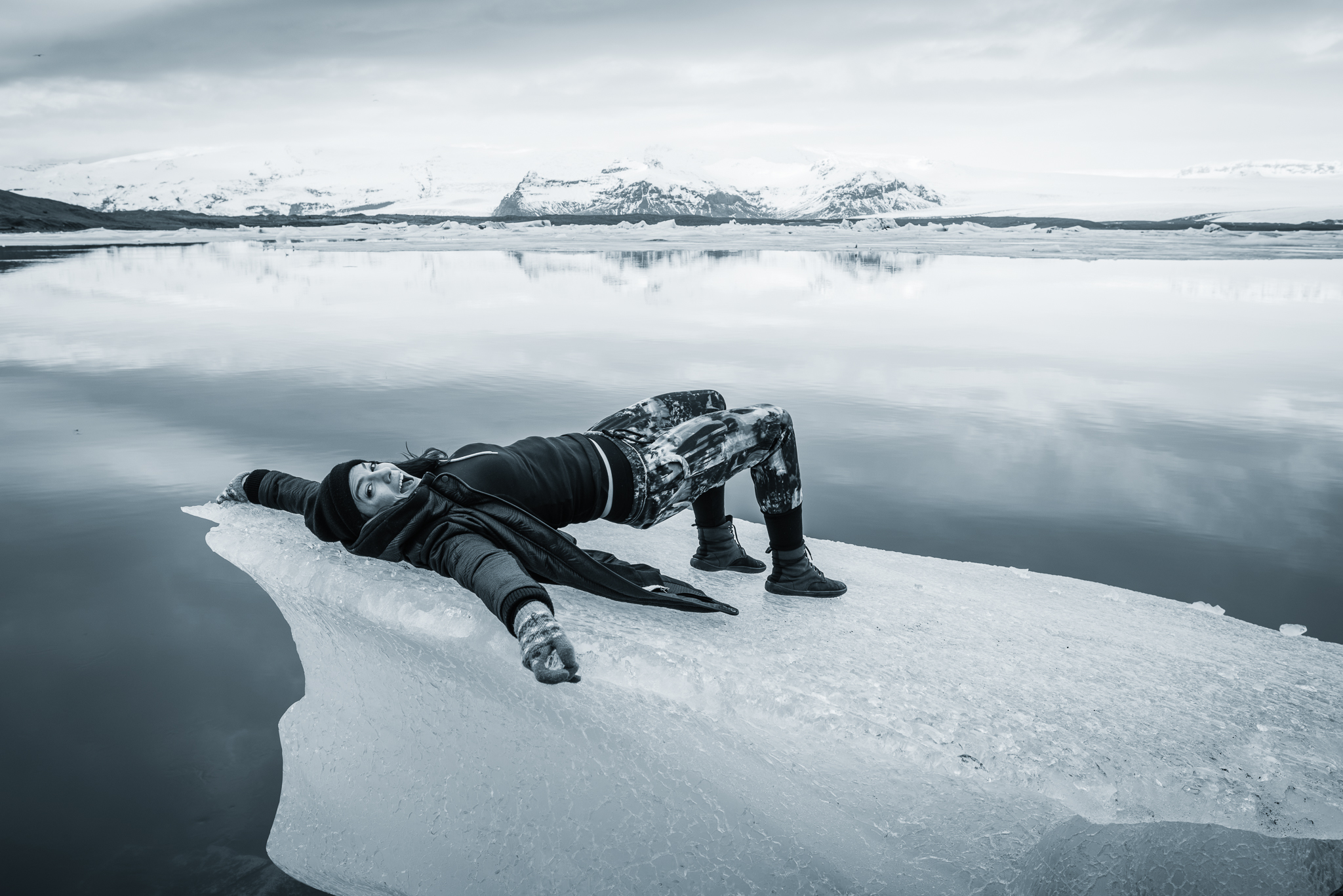 Sometimes, when I lay on Icebergs...I work on my glutes.