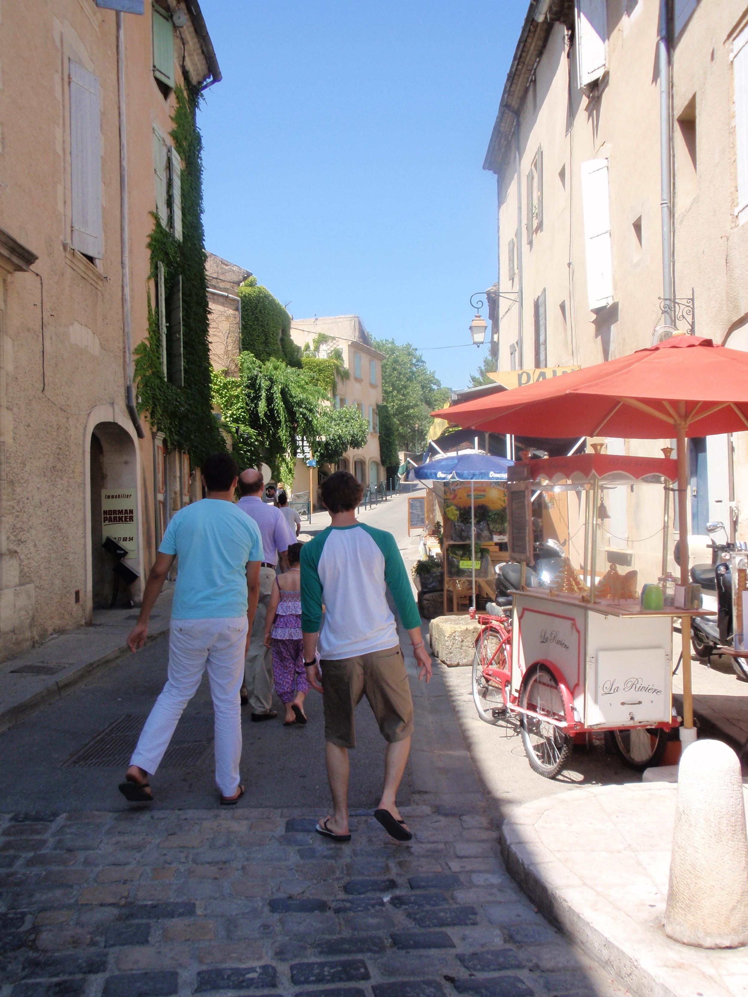 The gang in Lourmarin, France