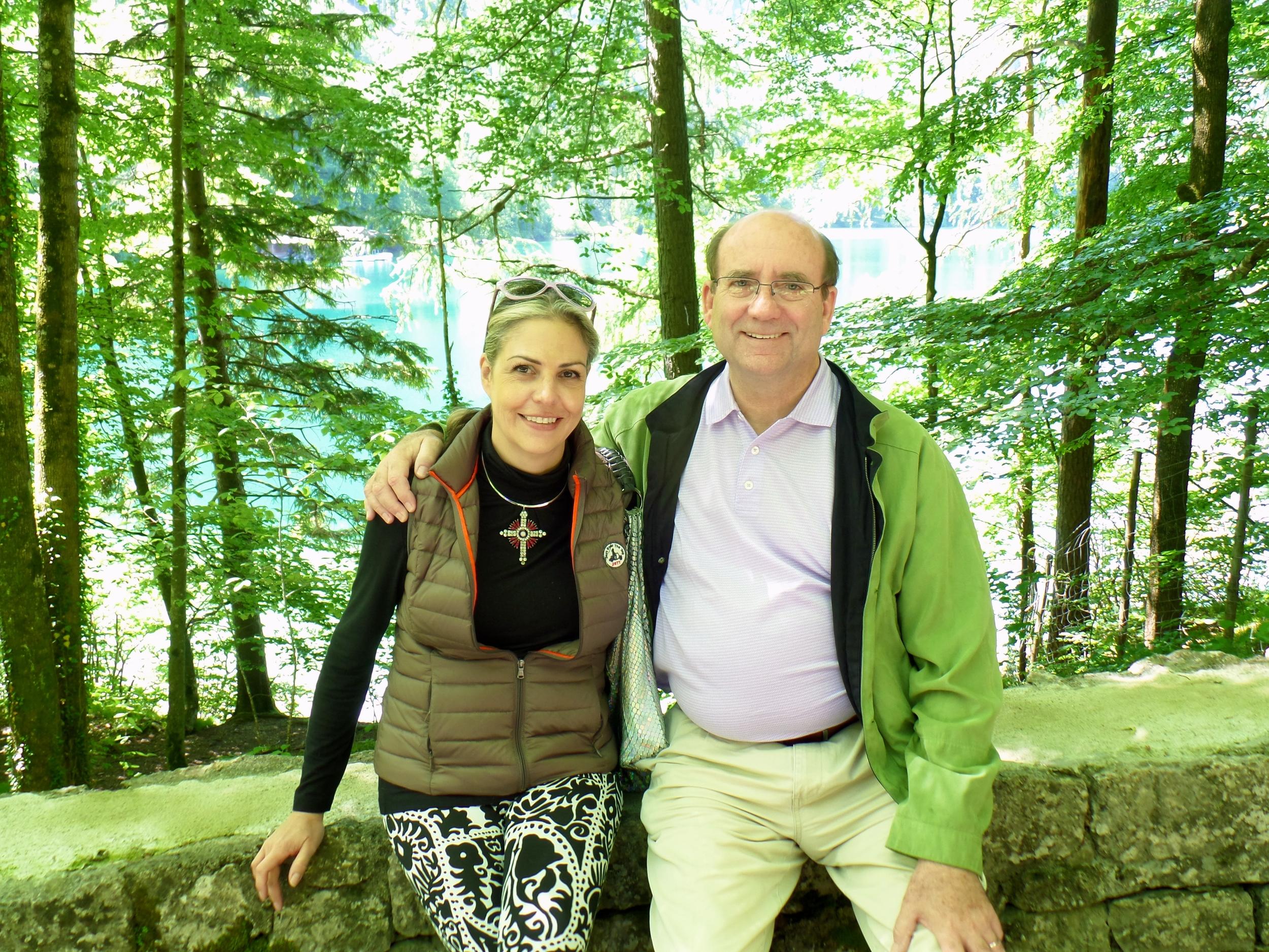 Bill and I at Neuschwanstein, Bavaria