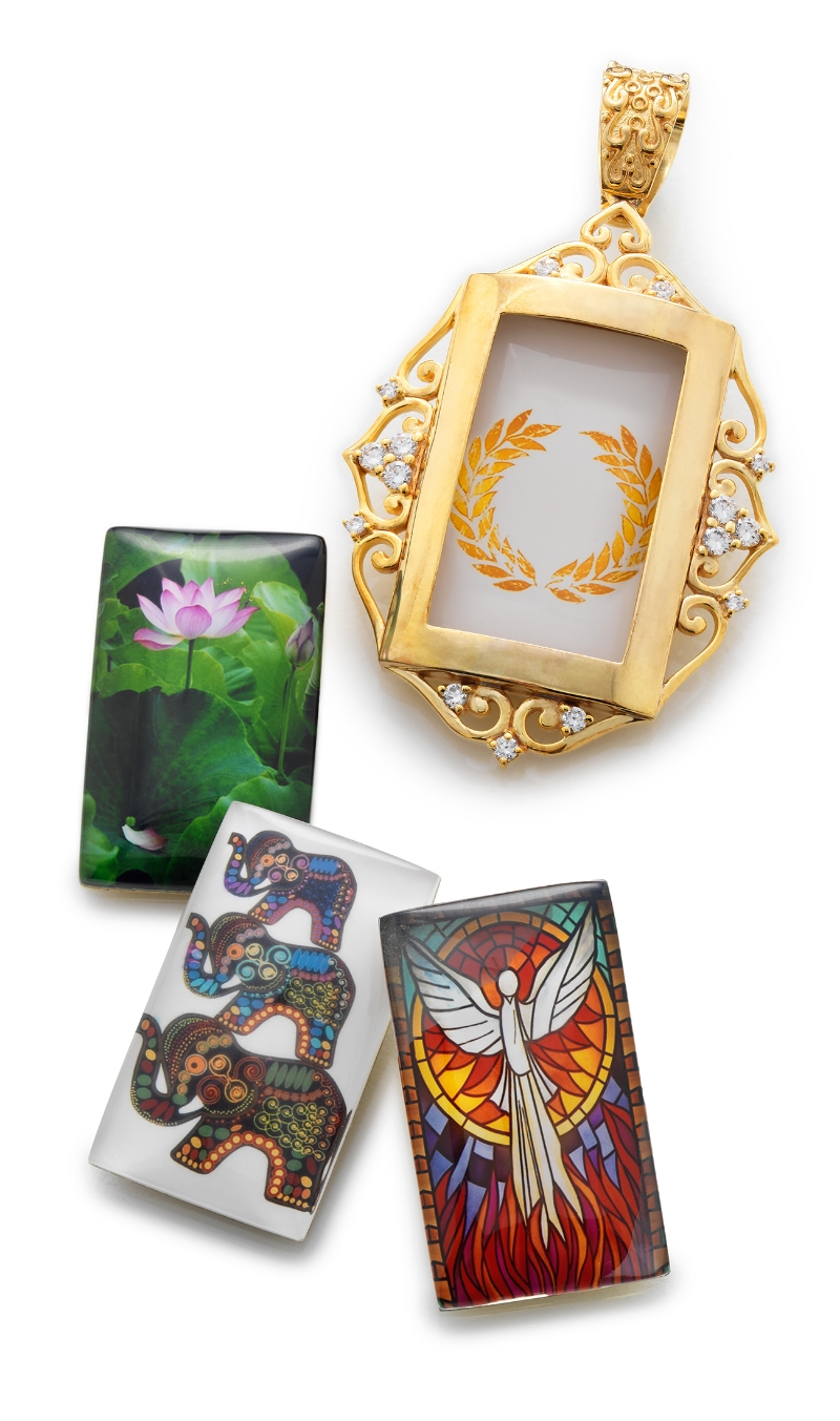 BuDhaGirl Reminders & Gold Scroll Frame Pendant
