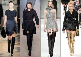 Different ways to wear over the knee boots