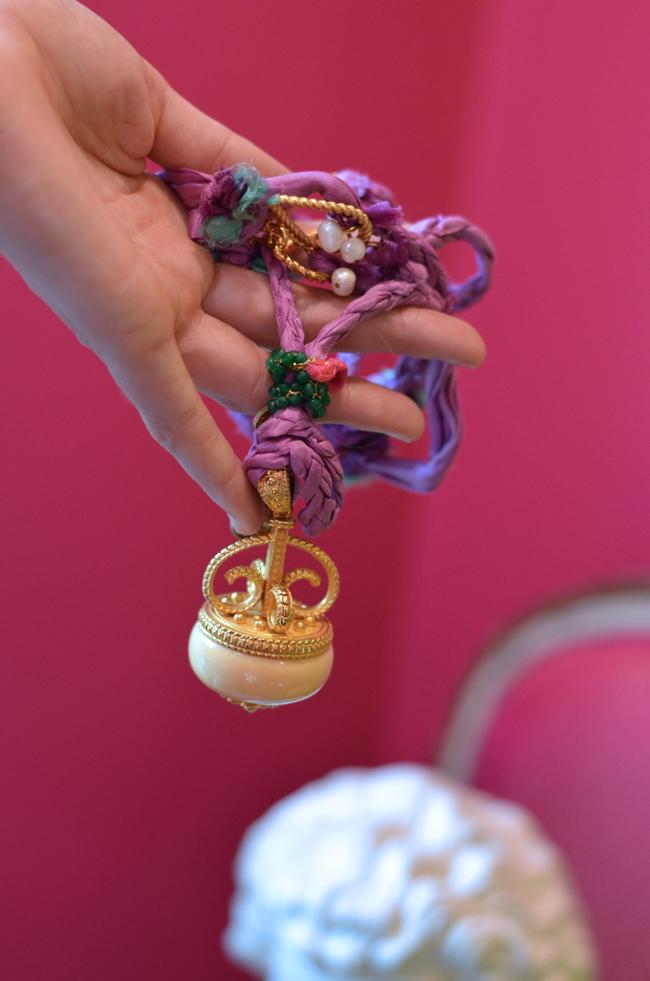 Tibetan Ivory Toggle Pink Cord