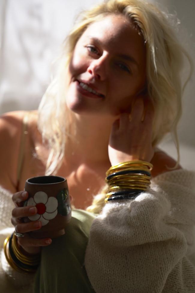 BuDhaGirl, Alicia Henry, Tea, All Weather bangles
