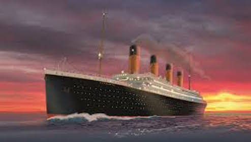 The Titanic on course to meet its destiny...