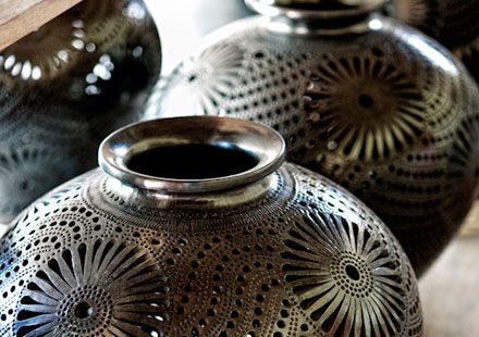 Oaxacan black clay pots are amazing works of art.