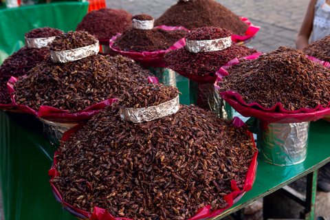 Chapulines, or crickets. Lovely to snack on whilst sipping tequila.