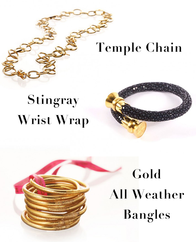 Temple Chain  +  Stingray Wrist Wraps  +  Gold All Weather Bangles
