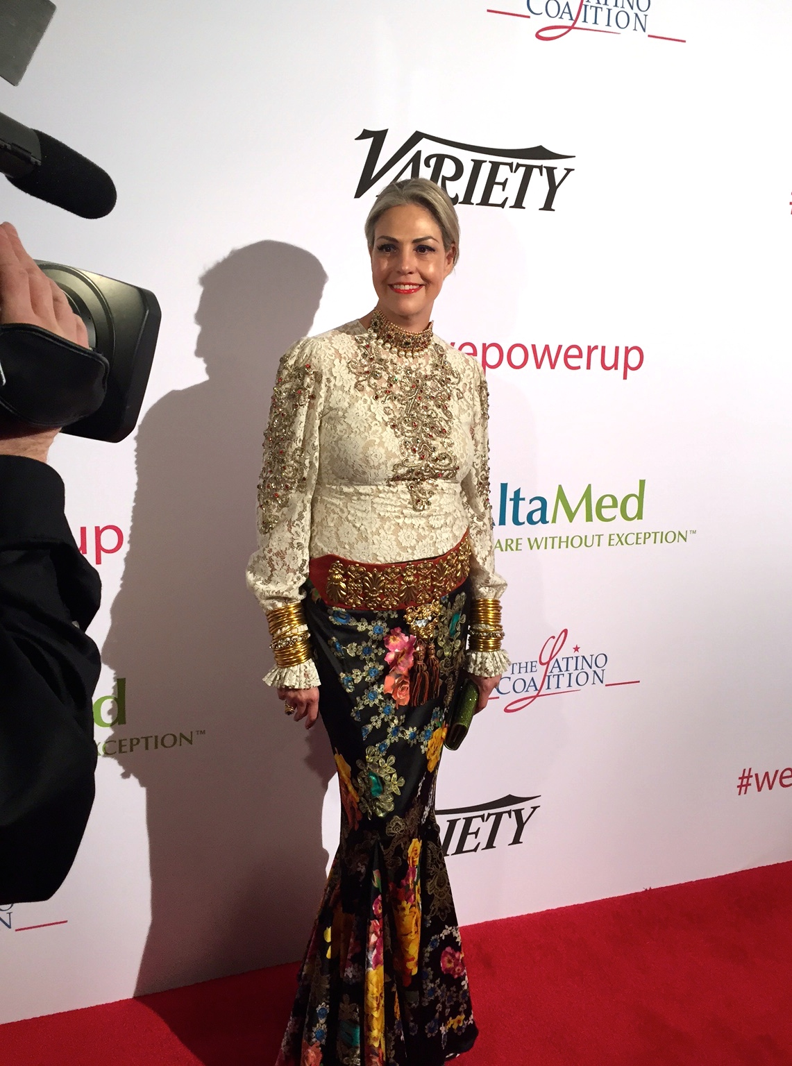 Jessica takes the red carpet at the Power Up gala.