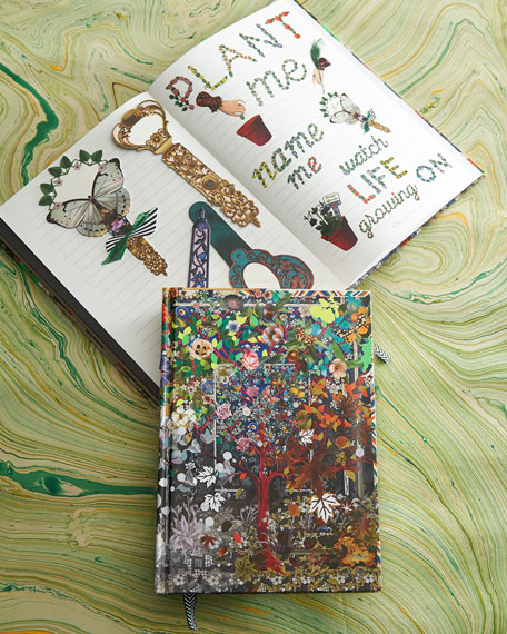 Record dreams, ideas, or gratitude in the  Christian Lacroix Les 4 Saisons Hardbound Journal - journaling in any form is a way to spark creativity and stay mindful.