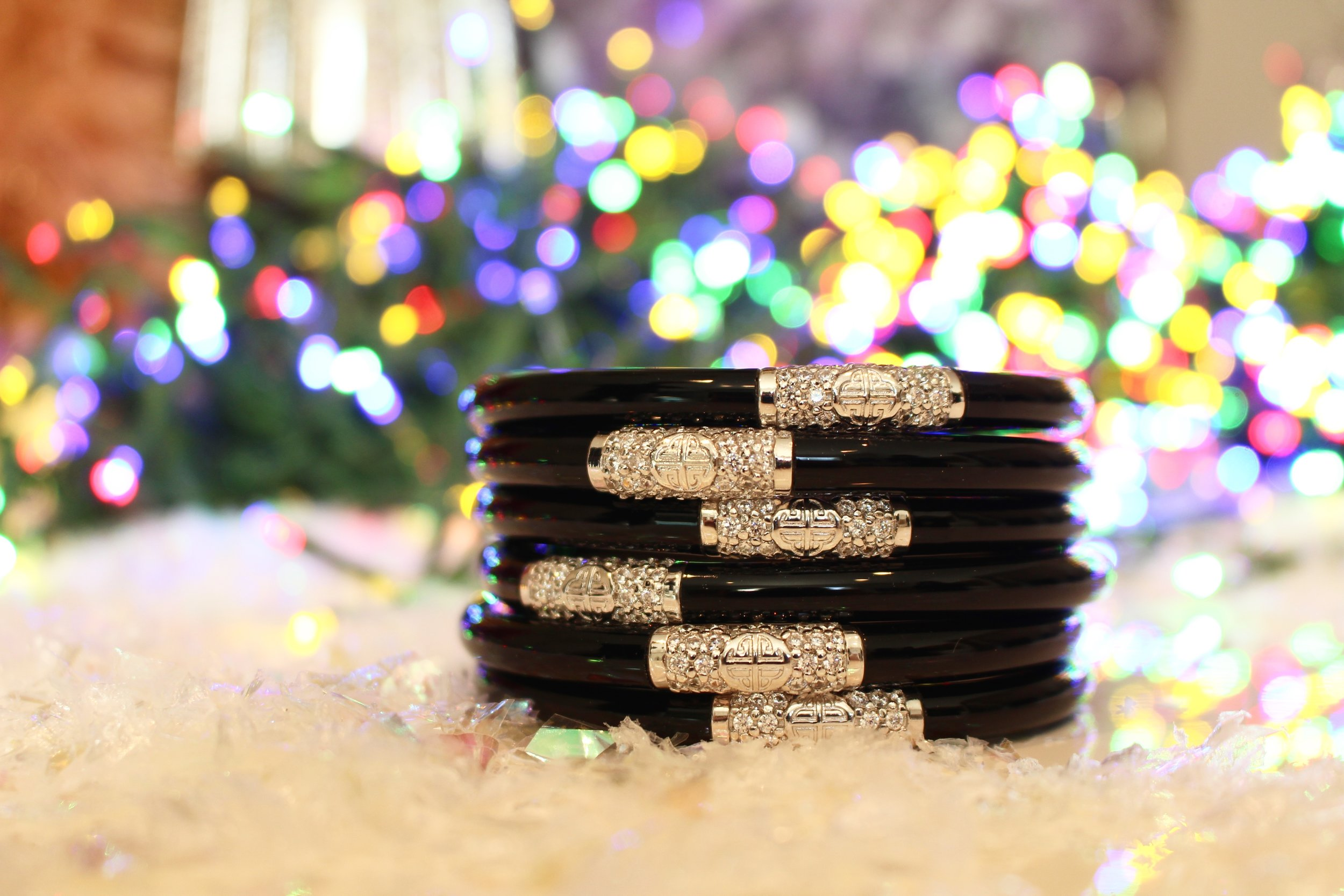 Caryn:  Black All Weather Bangles  are my go-to for holiday gifting. They have a bit of bling and are perfect for every BuDhaGirl in my life!