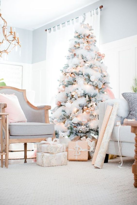 A gray, white and gold palette is both festive and sophisticated!