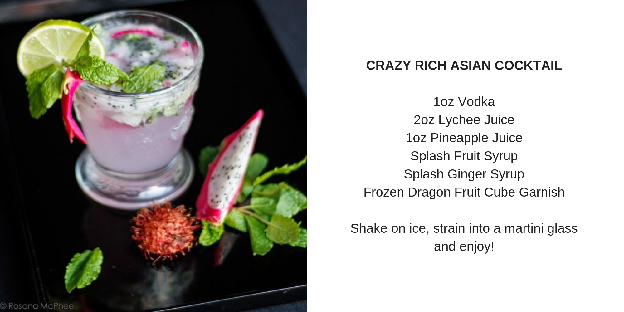 Crazy Rich Asian Cocktail