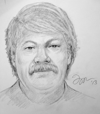 Here is the sketch I created with the kids from Mora High School via Skype™. Mr. Larsen sent me this picture of the actual subject we were sketching. He came into the classroom after our sketch session to do a live comparison. The kids were really impressed. © 2013.