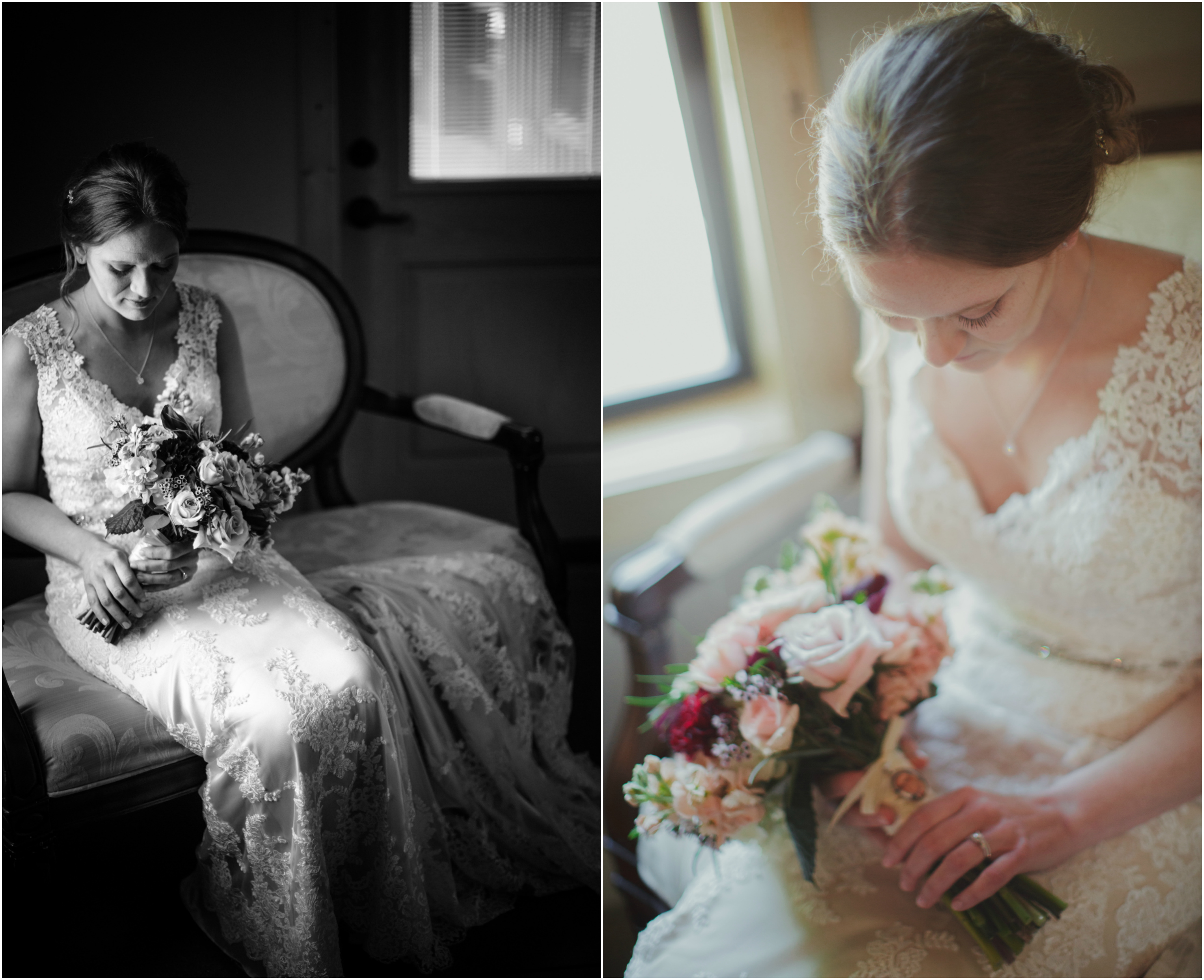 Sioux Falls Bride looking at flowers.jpg