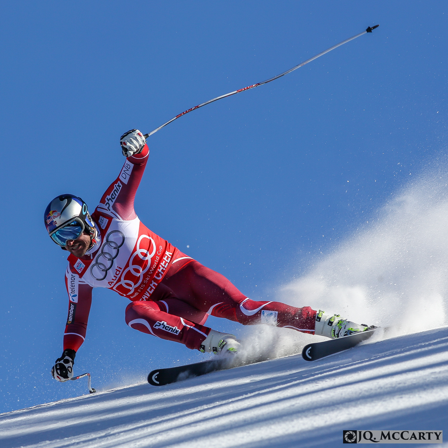 Norway's Aksel Lund Svindel lets the skis rip during his run on the Birds of Prey World Cup downhill race Friday in Beaver Creek. Svindel won his second consecutive World Cup downhill event with a time of 1 minute, 42.34 seconds.