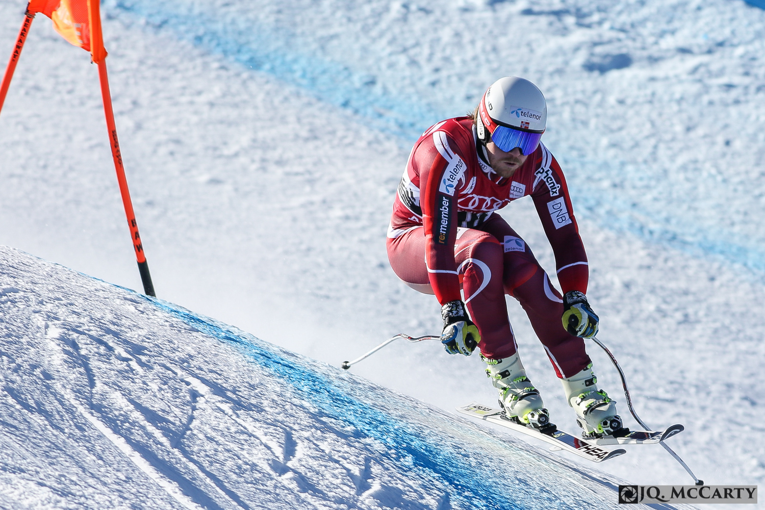 Norway's Kjetil Jansrud brings his skis back to the ground after banking a hard turn during the second day of training of the Birds of Prey World Cup downhill race Thursday in Beaver Creek. Jansrud was the fastest two days in a row with a time of 1 minute, 42.87 seconds.