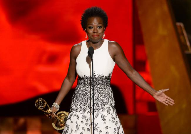 Viola Davis makes history as the first African-American woman to win Lead Actress in a Drama Series