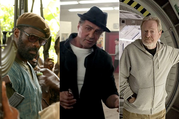 Ridley Scott and Idris Elba snubbed, Sly gets in