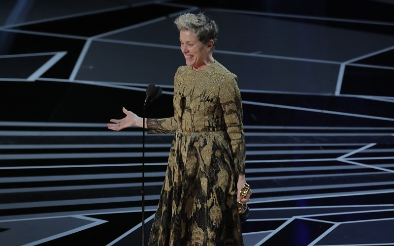 Two time winner Frances McDormand gave the night's most raucous acceptance speech