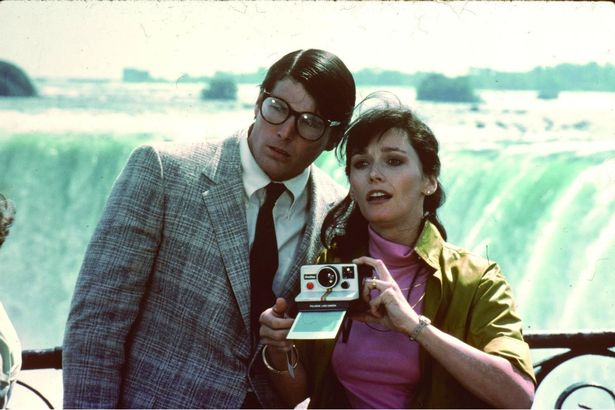 Iconic Duo: Reeve and Kidder as Clark Kent and Lois Lane in 1980's 'Superman II'
