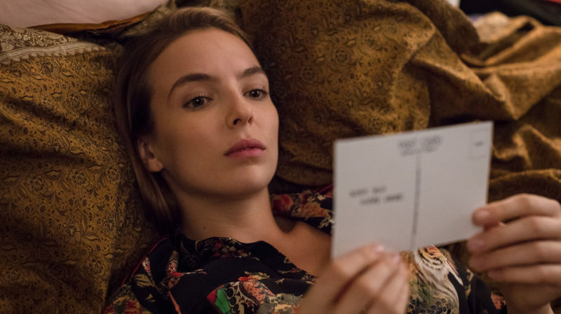 Jodie Comer as the playfully evil Villanelle