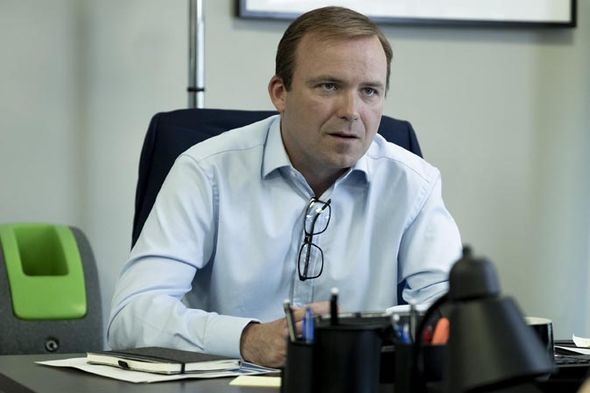 Rory Kinnear plays the incompetent strategist for the government who's caught off guard by the discontent