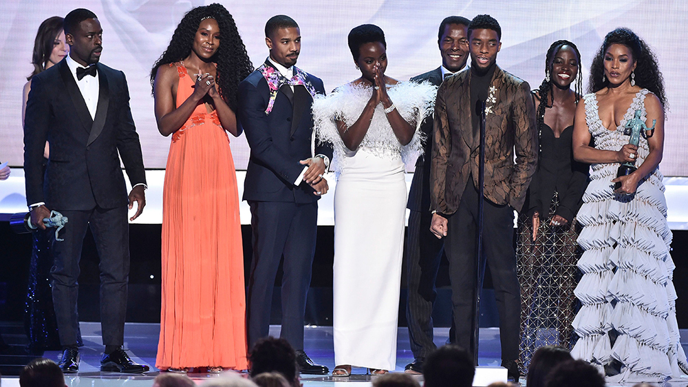 Black Panther  wins the SAG ensemble