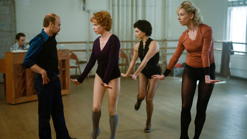 Rehearsing Fosse's famous moves for  Chicago