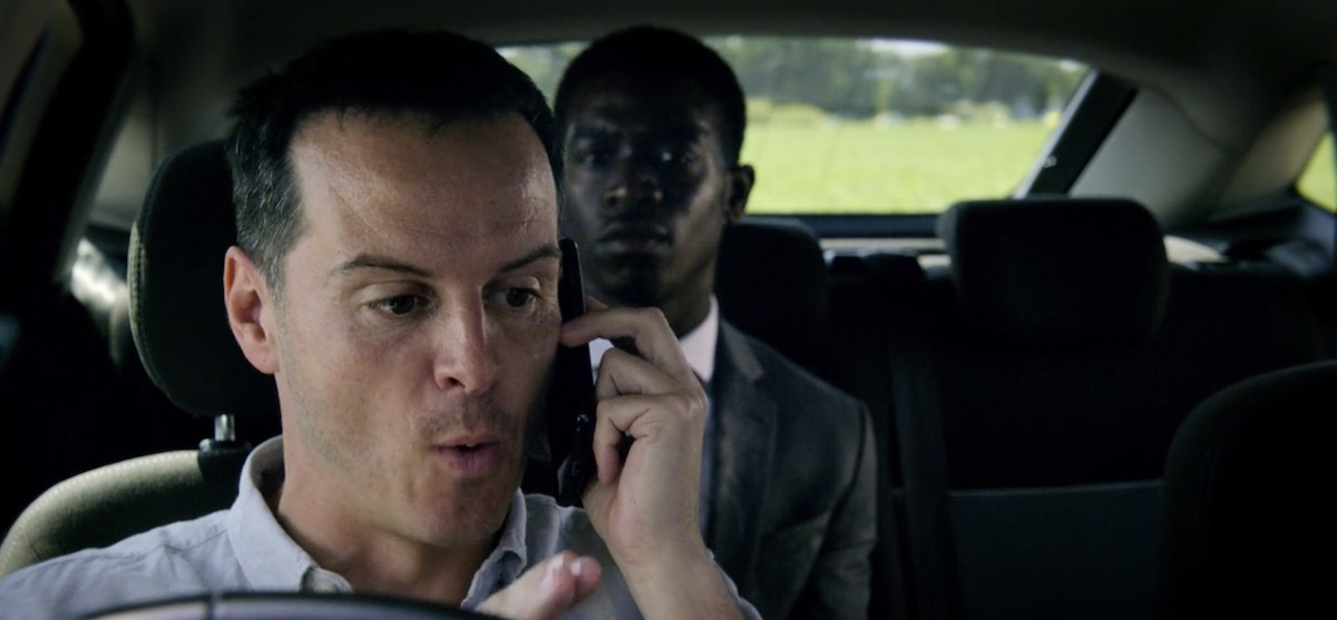 Andrew Scott loses it as a man on a mission