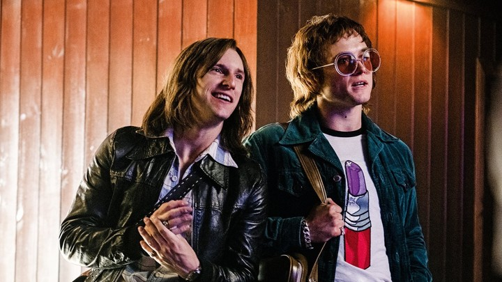 Jaime Bell and Taron Egerton shine bright as rock legends Bernie Taupin and Elton John