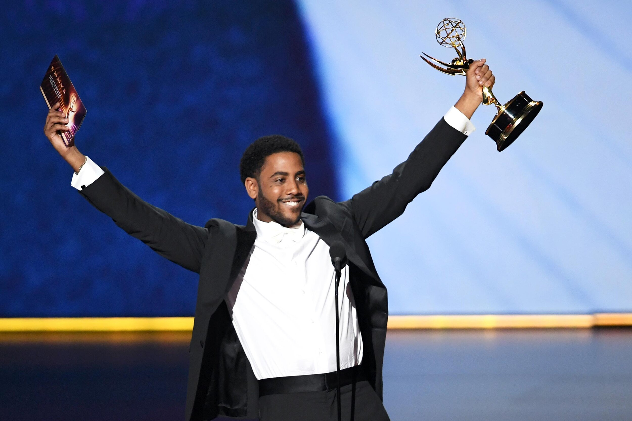 Chernobyl  may have taken the top prizes in series, directing and writing, but Jharell Jerome snagged the lead acting award, as his portrayal of Korey Wise in  When They See Us  made him the youngest ever winner in the category